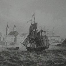 Arte: VISTA DE BELEM (BRASIL), 1850. Lote 25893467