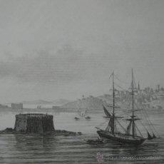 Arte: VISTA DE OLINDA, EN PERNAMBUCO (BRASIL), 1850. Lote 25893471