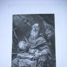 Arte: GRABADO S.XVIII S. HIERONYMUS (ST JEROME) J.LORENZ RUGENDAS SCULPSIT ET EXCUDIT AUG. VIND.31X47. Lote 26341181