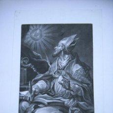 Arte: GRABADO S.XVIII S. SAN AGUSTIN J.LORENZ RUGENDAS SCULPSIT ET EXCUDIT AUG. VIND.31X47. Lote 26341294