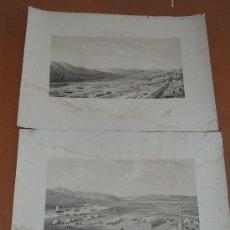 Arte: PAREJA GRABADOS MILITARES DE S.XIX. AFRICA. SELLOS DEPOSITO DE GUERRA. TETUAN Y VAD-RAS.. Lote 26705185