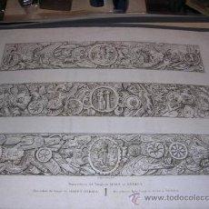Arte: GRABADO AGUAFUERTE, ALEXANDRE LABORDE, MERIDA ,BAS RELIEFS DU TEMPLE DE MARS A MERIDA,(ANTIGUO NO CO. Lote 26982435