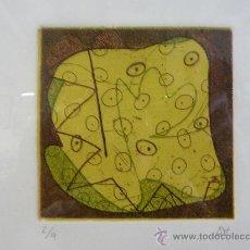 Arte: ANA PÉREZ SORIA - CREANT MONSTRES I - AGUAFUERTE - MARCO VITRINA 30,5 X 36,5. Lote 26995906
