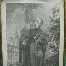 Arte: PRECIOSO GRABADO DE SAN FRUTOS PATRONO DE SEGOVIA. GRABADO POR FRANCISCO JORDAN VALENCIA 1805.. Lote 27429339