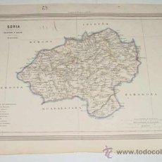 Arte: ANTIGUO GRABADO COLOREADO DE SORIA - POR D. MARTIN FERREIRO - GASPAR Y ROIG - ED. MADRID - AÑO 1850 . Lote 27506754