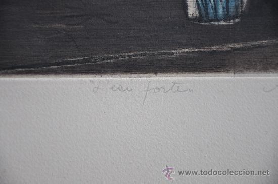 Arte: aguafuerte original firmado titulado y con justificacion de tirada - Foto 5 - 28336265