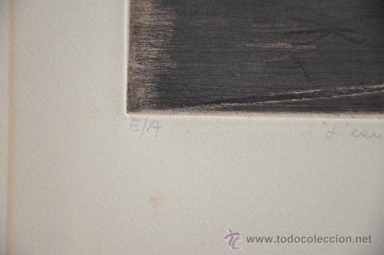 Arte: aguafuerte original firmado titulado y con justificacion de tirada - Foto 2 - 28336265