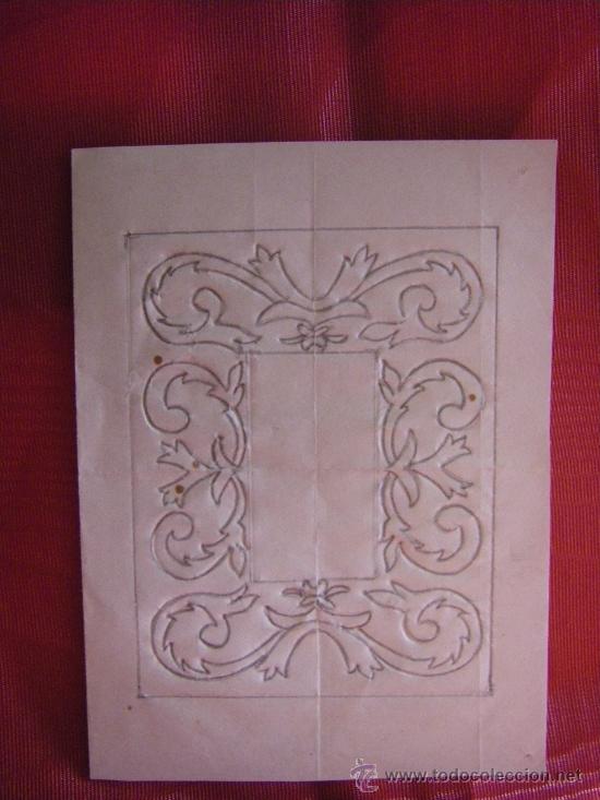 TRAMA CON DIBUJO PARA REALIZAR UN GRABADO SIGLO XVIII Y XIX, VALENCIA. (Arte - Grabados - Modernos siglo XIX)