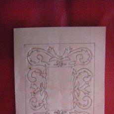 Arte: TRAMA CON DIBUJO PARA REALIZAR UN GRABADO SIGLO XVIII Y XIX, VALENCIA.. Lote 27851910