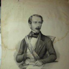 Arte: 265 LUIS NAPOLEON FRANCIA PRECIOSO GRABADO SIGLO XIX PIEZA ORIGINAL DE EPOCA 1838. Lote 28233627