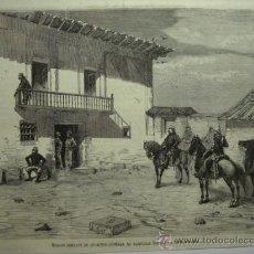 Arte: 123 SOMORROSTRO MARISCAL SERR VIZCAYA GUERRA CARLISTA PRECIOSO GRABADO - ORIGINAL DE EPOCA AÑO 1874. Lote 28267095