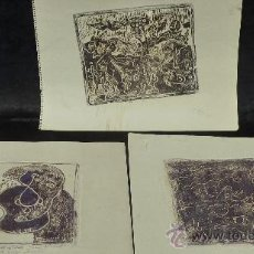 Arte: SAÜLO MERCADER. 3 AGUAFUERTES ORIGINALES EN PLANCHA DEL AUTOR. 10/30. VALLDOREIX 1974.. Lote 28298161