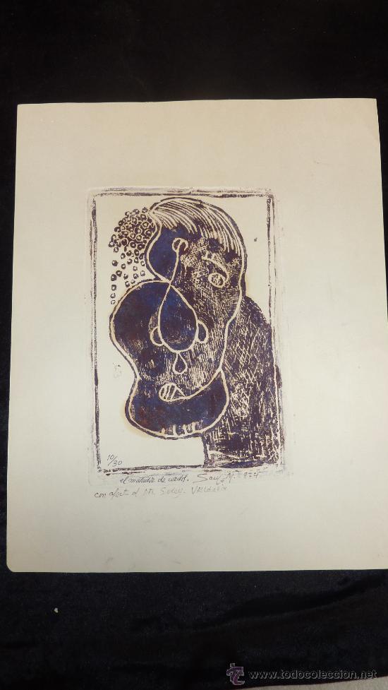 Arte: Saülo Mercader. 3 Aguafuertes originales en plancha del autor. 10/30. Valldoreix 1974. - Foto 2 - 28298161