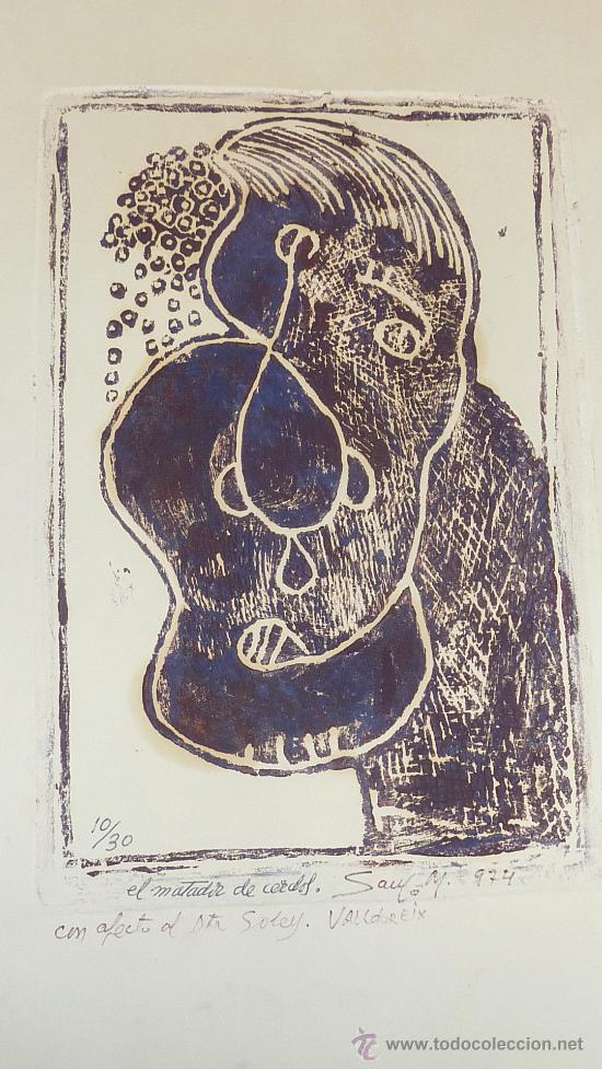 Arte: Saülo Mercader. 3 Aguafuertes originales en plancha del autor. 10/30. Valldoreix 1974. - Foto 3 - 28298161