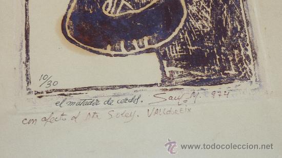 Arte: Saülo Mercader. 3 Aguafuertes originales en plancha del autor. 10/30. Valldoreix 1974. - Foto 4 - 28298161