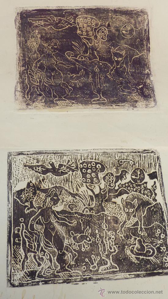 Arte: Saülo Mercader. 3 Aguafuertes originales en plancha del autor. 10/30. Valldoreix 1974. - Foto 10 - 28298161
