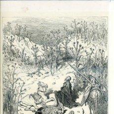 Arte: G. DORÉ - IMPRENTA RIERA (1875) DON QUIJOTE : AMOR, CUANDO YO PIENSO...31X44 CM.. Lote 28313080