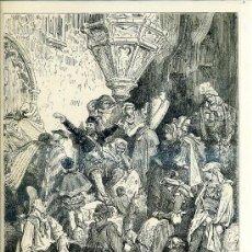 Arte: G. DORÉ - IMPRENTA RIERA (1875) DON QUIJOTE : NO HABÍA TIERRA...31X44 CM.. Lote 28313101