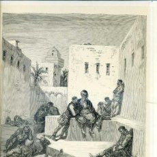 Arte: G. DORÉ - IMPRENTA RIERA (1875) DON QUIJOTE : UN RENEGADO, NATURAL DE MURCIA...31X44 CM.. Lote 28313114