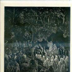 Arte: G. DORÉ - IMPRENTA RIERA (1875) DON QUIJOTE : YO SOY MERLÍN...31X44 CM.. Lote 28313131