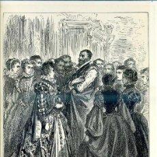 Arte: G. DORÉ - IMPRENTA RIERA (1875) DON QUIJOTE : LLEGÓ LA NOCHE...31X44 CM.. Lote 28313138