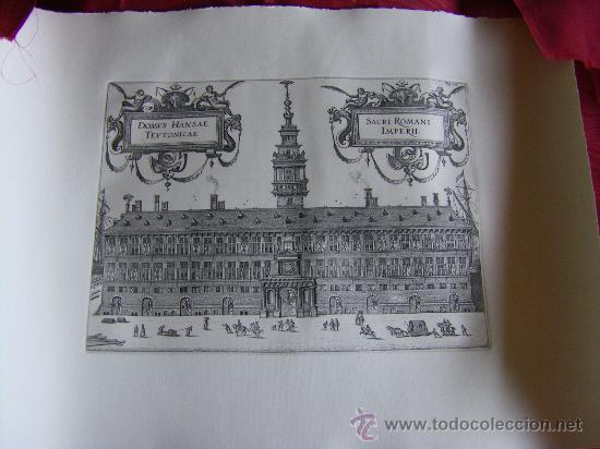 Arte: Grabado de la Casa de la Hansa de Amberes, siglo XVI-XVII - Foto 2 - 28413108