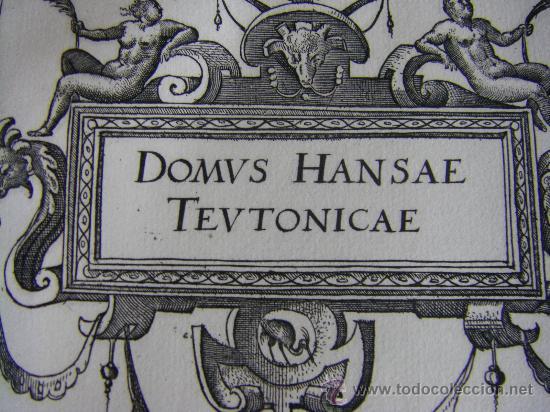Arte: Grabado de la Casa de la Hansa de Amberes, siglo XVI-XVII - Foto 3 - 28413108