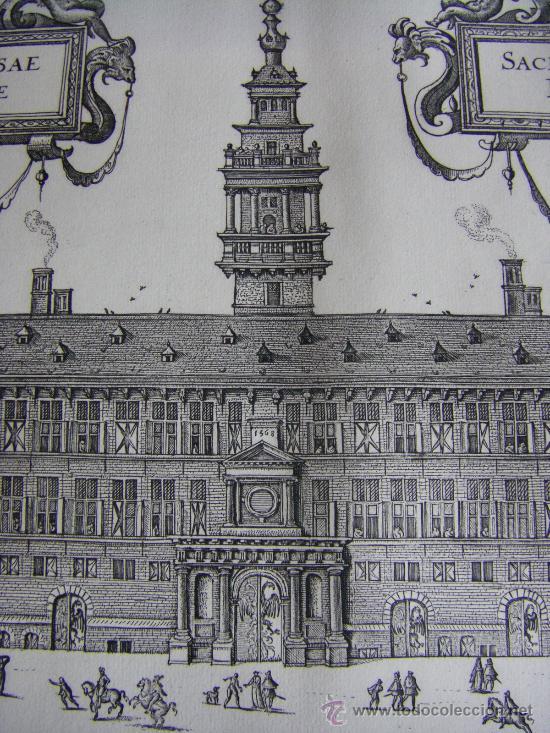 Arte: Grabado de la Casa de la Hansa de Amberes, siglo XVI-XVII - Foto 5 - 28413108