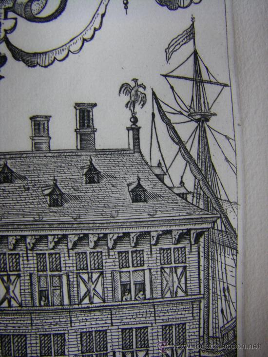 Arte: Grabado de la Casa de la Hansa de Amberes, siglo XVI-XVII - Foto 6 - 28413108