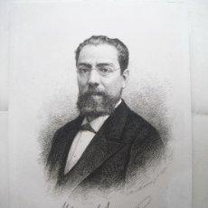 Arte: 1884 MANUEL TAMAYO Y BAUS GRABADOR BARTOLOME MAURA Y MONTANER. Lote 28439978