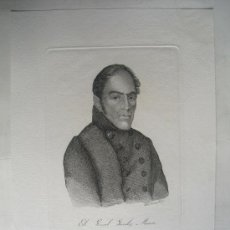 Arte: SIGLO XIX GENERAL GONZALEZ MORENO GUERRAS CARLISTAS. Lote 28453531