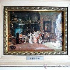 Arte: MARIANO FORTUNY - LA VICARIA - ESMALTE SOBRE METAL. Lote 30371339
