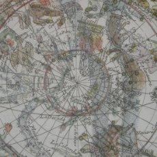 Arte: MAPA CELESTE A COLOR DE LOS DOS HEMISFERIOS, BION, 1710. Lote 28548218