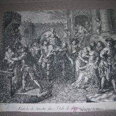 Arte: (M) GRABADO S.XVIII - DON QUIJOTE ,ENTREE DE SANCHO DANS L'ISLE DE BARATARIA. Lote 28591598