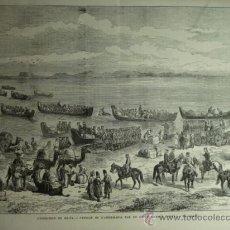 Arte: 40 RUSIA UZBEKISTAN INVASION AÑO 1874 PRECIOSO GRABADO ORIGINAL DE EPOCA XILOGRAFIA. Lote 29094377