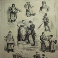 Arte: 44 SAN PETERSBURGO RUSIA TIPOS AÑO 1874 PRECIOSO GRABADO ORIGINAL DE EPOCA XILOGRAFIA. Lote 29094419