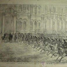 Arte: 46 RUSIA SAN PETERSBURGO EMPERADOR AÑO 1874 PRECIOSO GRABADO ORIGINAL DE EPOCA XILOGRAFIA. Lote 29094452