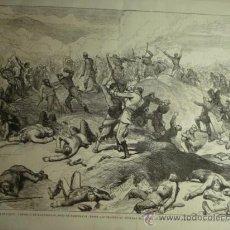 Arte: 76 BARASCOAIN PAMPLONA GUERRA CARLISTA AÑO 1874 PRECIOSO GRABADO ORIGINAL DE EPOCA XILOGRAFIA. Lote 29095362