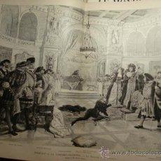 Arte: 102 PARIS FRANCIA HAMLET AÑO 1886 PRECIOSO GRABADO ORIGINAL DE EPOCA XILOGRAFIA. Lote 29102455