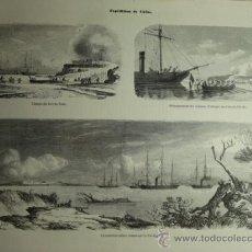 Arte: 109 CHINA PEI HO EXPEDICION FRANCIA AÑO 1858 PRECIOSO GRABADO ORIGINAL DE EPOCA XILOGRAFIA. Lote 29102770
