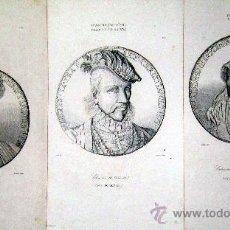 Arte: 1845 MEDALLAS FRANCESAS DEL SIGLO XVI - 3 GRABADOS AL ACERO. Lote 29109375