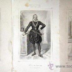 Arte: 1845 PERSONAJES HISTORICOS DEL SIGLO XVI - 3 GRABADOS AL ACERO. Lote 29109464