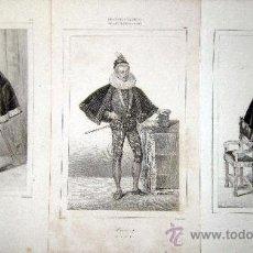 Arte: 1845 PERSONAJES HISTORICOS DEL SIGLO XVI - 3 GRABADOS AL ACERO. Lote 29109491