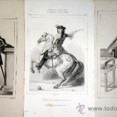 Arte: 1845 PERSONAJES HISTORICOS DEL SIGLO XVI Y XVII - 3 GRABADOS AL ACERO. Lote 29109550