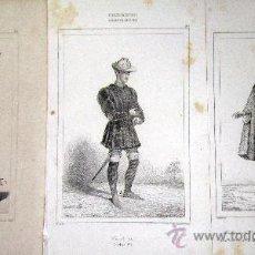 Arte: 1845 PERSONAJES HISTORICOS DEL SIGLO XV - 3 GRABADOS AL ACERO. Lote 29109997