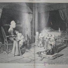 Arte: CASA-CUNA DE UNA ALDEA, CUADRO DE HAAG. LA ILUSTRACIÓN ARTÍSTICA. . Lote 29201876
