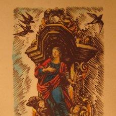 Arte: GRABADO DE ENRIC C. RICART. CASA DELS VELERS. BARCELONA. Lote 29202302