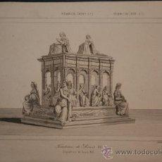 Arte: FRANCE (XVIº. S.) TOMBEAU DE LOUIS XII. FRANCIA (XVI Sº.). SEPULCRO DE LUIS XII. 490.. Lote 29235812