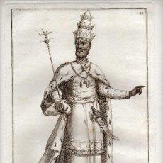 Arte: MAGNIFICO GRABADO - SIGLO XVIII - EL REY DE SIAM - J.BZ - NÚM. 11. Lote 29378428