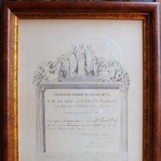 Arte: MALAGA: RICARDO VERDUGO LANDI 1893 GRABADO PREMIO EXPOSICION INTERNACIONAL BELLAS ARTES. Lote 29579430